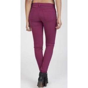 J Brand Super Skinny Jean 26 2 Berry